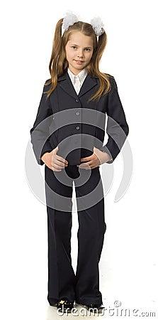The cherry girl in a school uniform