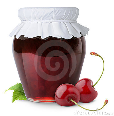 Free Cherry Jam Stock Photo - 18836240