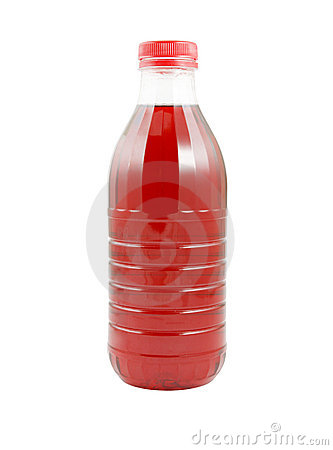 Cherry juice bottle