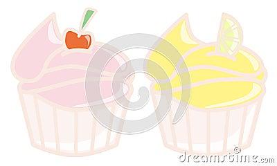 Cherry and Lemon cupcakes