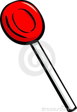 cherry lollipop candy vector illustration