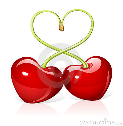 Free Cherry Love Royalty Free Stock Images - 8377039