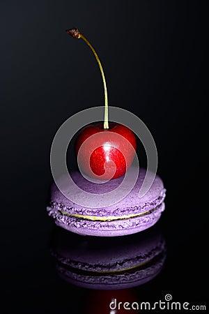 Cherry on a macaroon