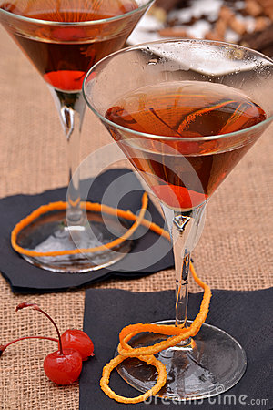 Free Cherry Martini Cocktail. Stock Photo - 41203830