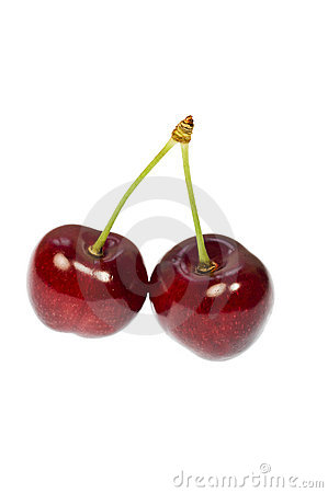 Free Cherry Pair Stock Images - 19849024