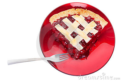 Cherry pie serving