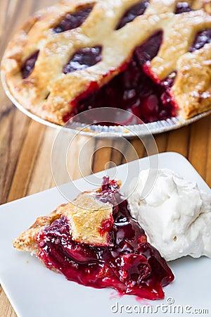 Cherry Pie Slice Stock Photo - Image: 48148307