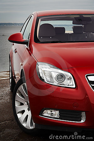 Free Cherry Red Car Front Detail Royalty Free Stock Photos - 8649938