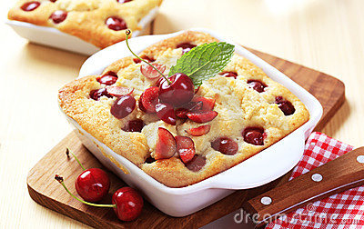 Cherry sponge cake