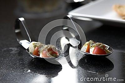 Cherry tomato amuse bouche