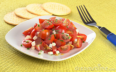 Cherry Tomato with Cheese and Chives
