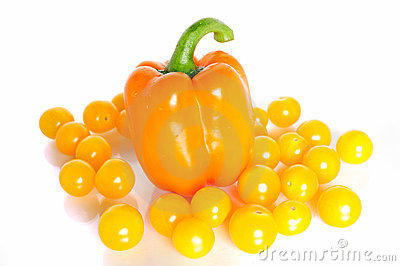 Cherry tomatoes and paprika