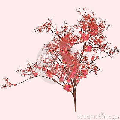 Free Cherry Tree Art Royalty Free Stock Photography - 6638897