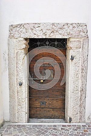 Cherry wood door