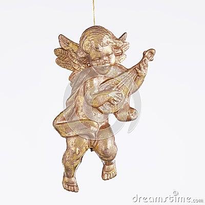 Cherub Playing a Lute Ornament