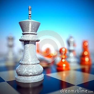 Chess battle -defeat