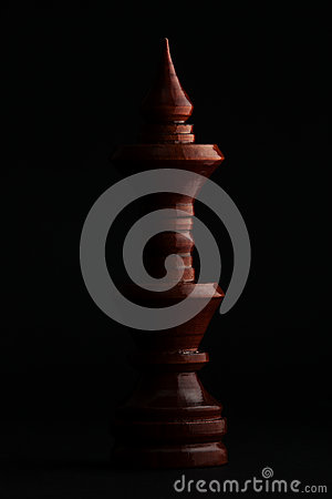 Free Chess. Black King On Black Background. Stock Photography - 87468092