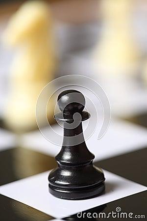 Free Chess Black Pawn Royalty Free Stock Photos - 7825578