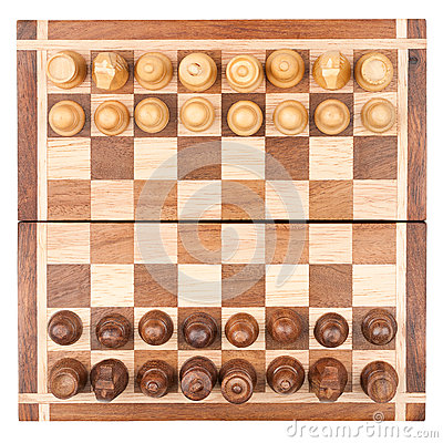 Chess board with all pieces