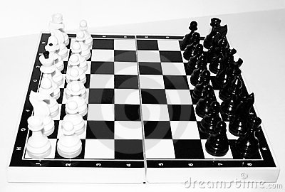 Chess board with chess.
