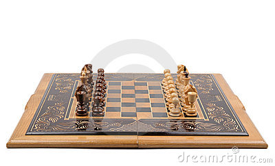 Chess board with chess-men