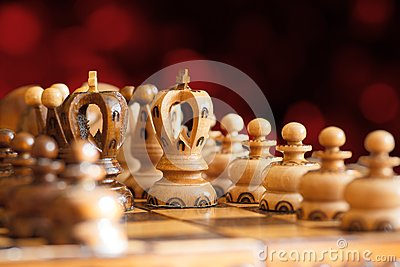 Chess board focus to white king