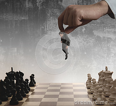 Chess and businessman