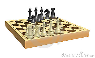 Chess on chessboard
