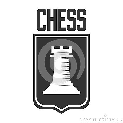 Free Chess Club Vector Icon Template Of Rook Castle Chessman On Heraldic Shield Stock Image - 93542141
