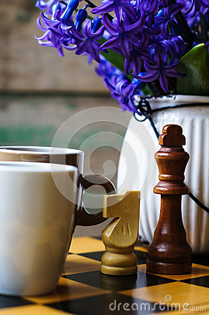 Chess And Coffee Stock Photo Image 51745158