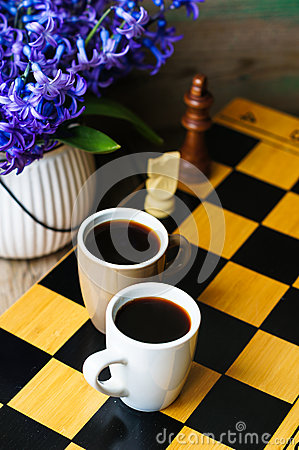 Chess And Coffee Stock Photo Image 51745509