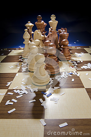 Chess coming chessboard
