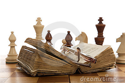 Chess composition with book