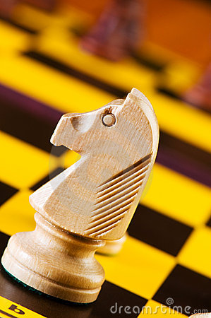 Chess concept with pieces