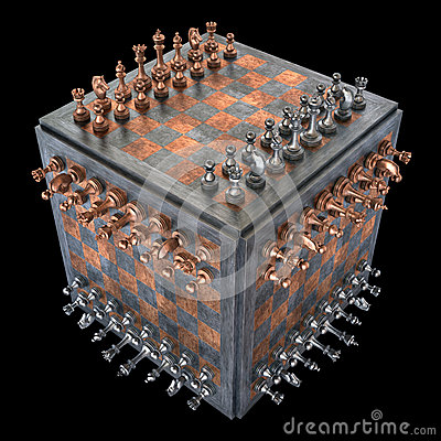 Free Chess Cube Royalty Free Stock Photo - 44329495
