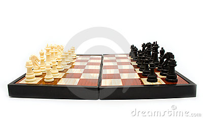 Chess figures on a board