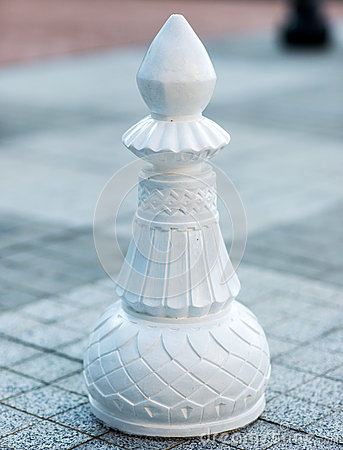Chess figures outdoor.