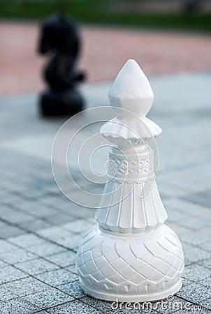 Chess figures outdoor.