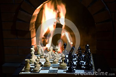 Chess fireplace