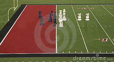 Chess Football Goal Line Red
