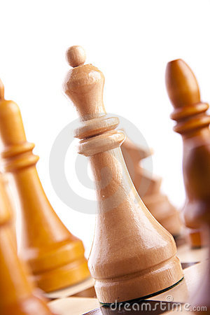 Chess game king strategy board