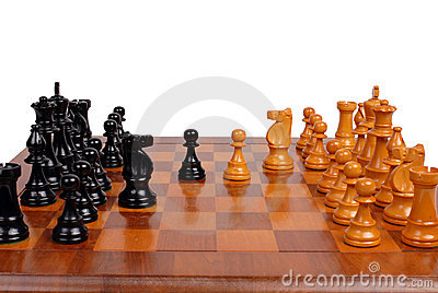 Chess game in progress
