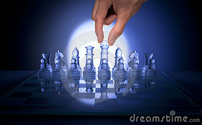 Chess Hand Business Strategy