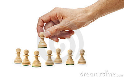 Chess Hand Strategy Business