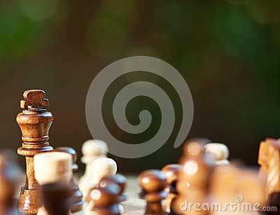 Chess king on chessboard