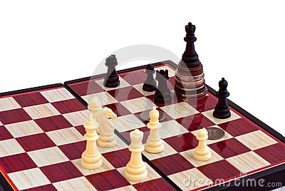 Chess and the king on coins
