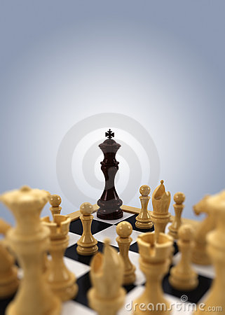Free Chess King Cornered Royalty Free Stock Images - 17758199