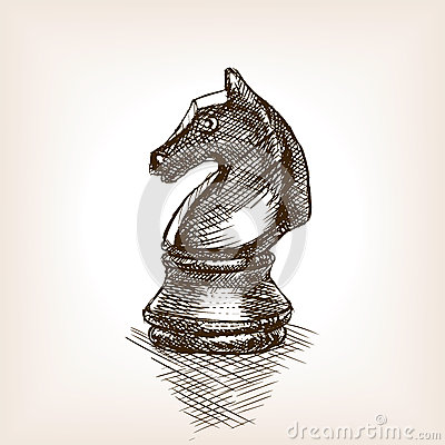 Free Chess Knight Sketch Vector Illustration Royalty Free Stock Photo - 69780255