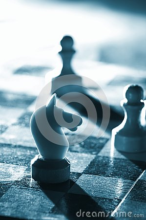 Free Chess On A Board Royalty Free Stock Photography - 9976687