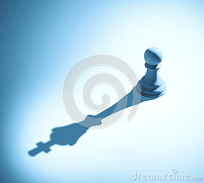 Free Chess Pawn Casting A King Piece Shadow Stock Photo - 39475580
